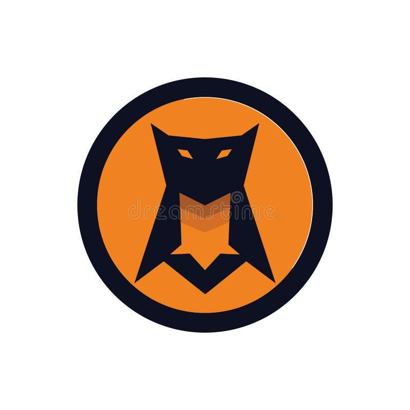 Sowy maskotki ikony logo poj?cie royalty ilustracja