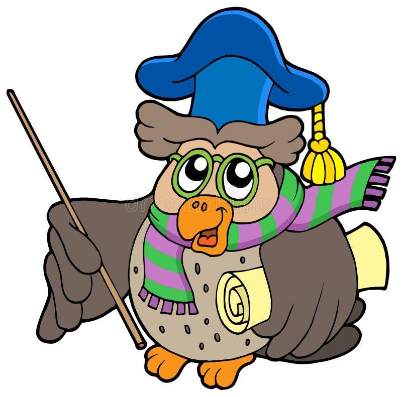 sowy pergaminu nauczyciel ilustracji