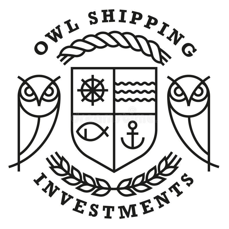 Sowy wysyłki logo szablon obraz royalty free