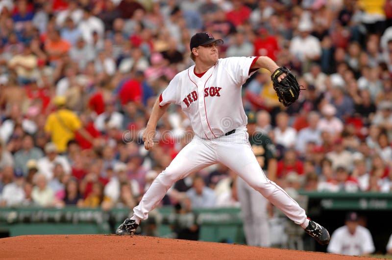 sox schilling boston краткий красный стоковые фотографии rf