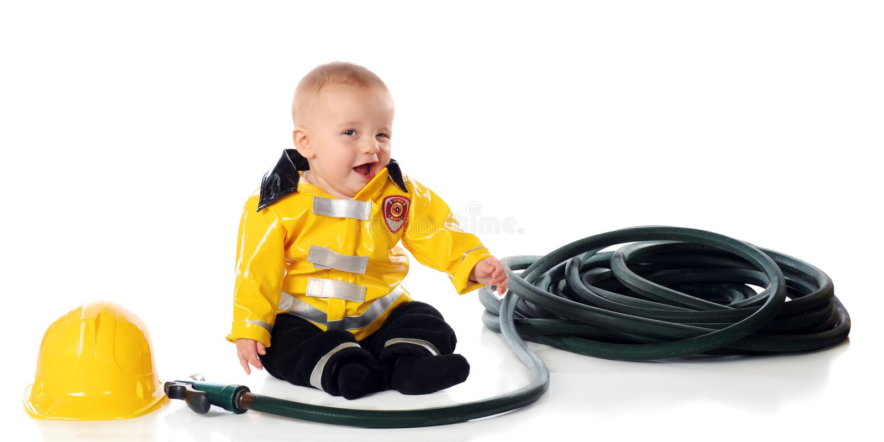 Soy bombero. ¡Guiño! imágenes de archivo libres de regalías
