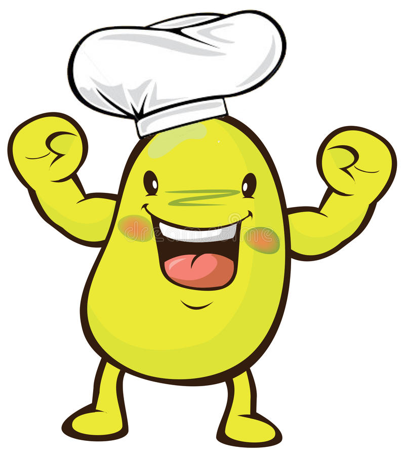 Soy. Mr.soy is master-chef in fresh farm vector illustration