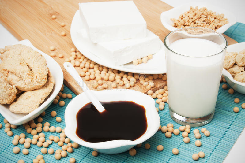 Soy products royalty free stock photography