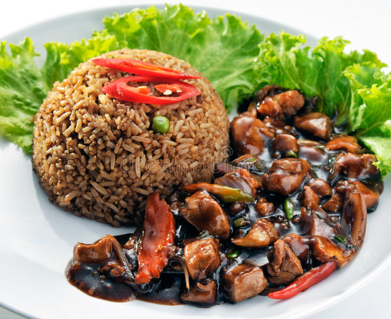 Soy Sauce Fried Rice With Black Soy Sauce Chicken Stock ...