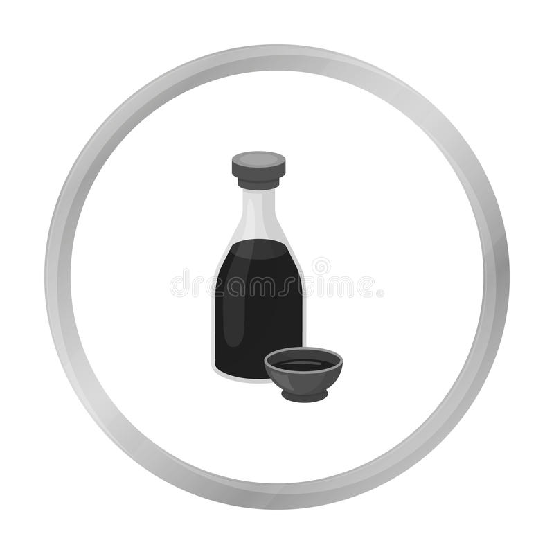 Soy Sauce Icon Isolated On White Sushi Symbol Stock Vector