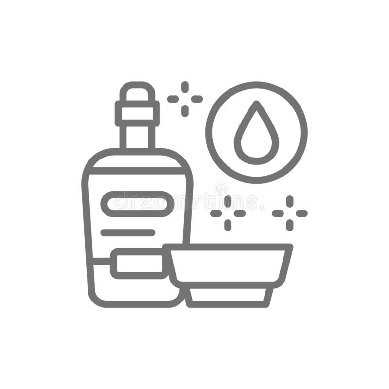Soy sauce, liquid seasoning line icon. Vector soy sauce, liquid seasoning line icon. Symbol and sign illustration design. Isolated on white background vector illustration