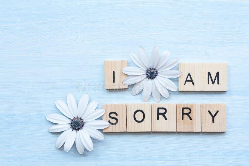 Soy texto y flores tristes imagen de archivo libre de regalías