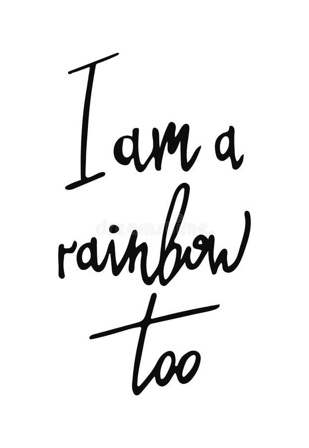 Soy un cartel del arco iris también libre illustration