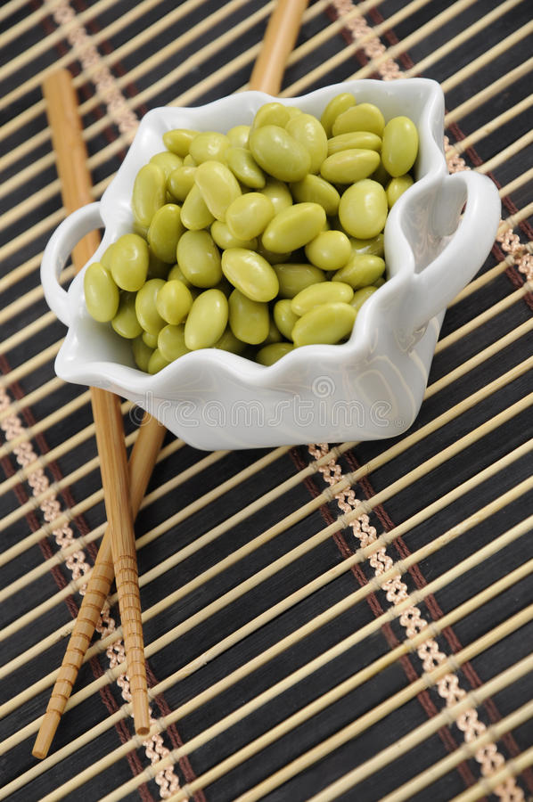 Download Soybeans in a White Dish stock photo. Image of large - 10748494