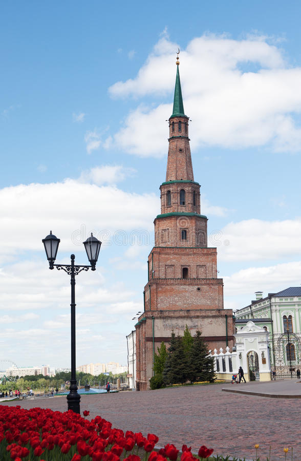 Soyembika wierza w Kazan Kremlin obrazy royalty free