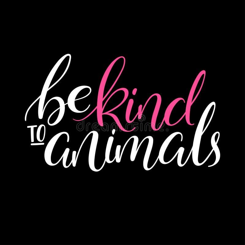 Soyez aimable avec des animaux illustration de vecteur