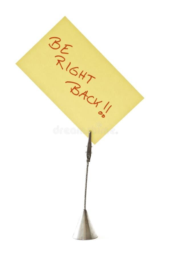 Soyez bien en arrière photo libre de droits