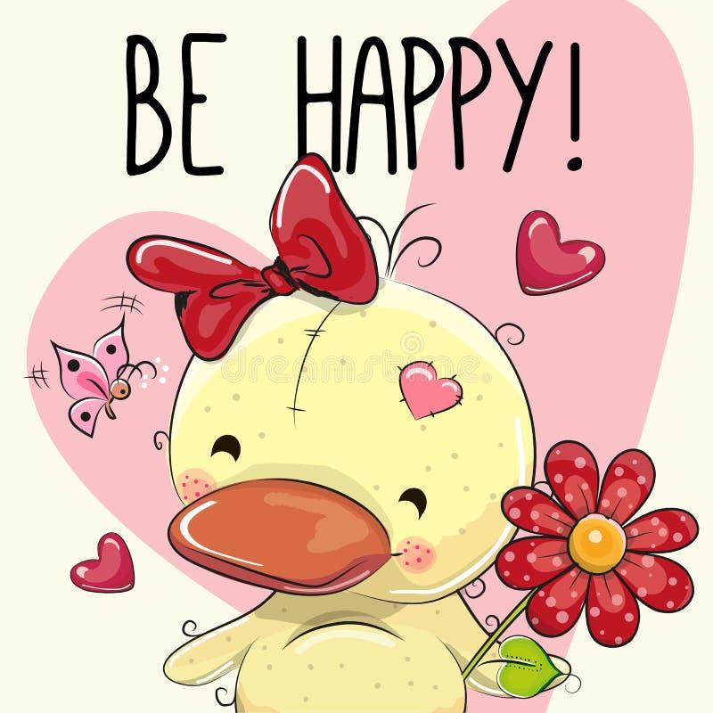 Soyez carte de voeux heureuse illustration stock
