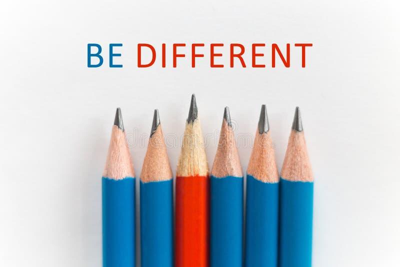 Soyez concept différent photos stock