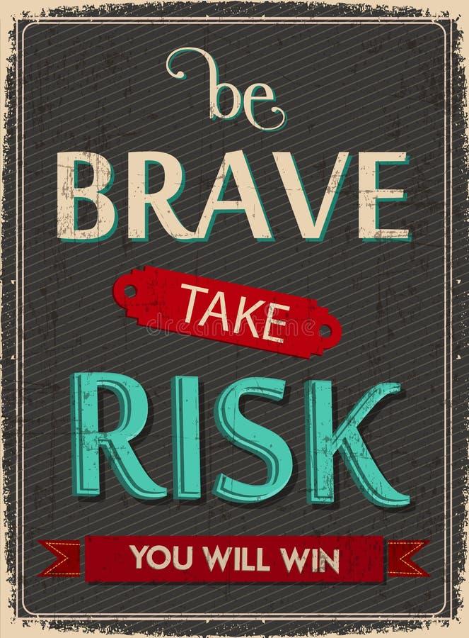 Soyez courageux prennent le risque et la victoire photos libres de droits