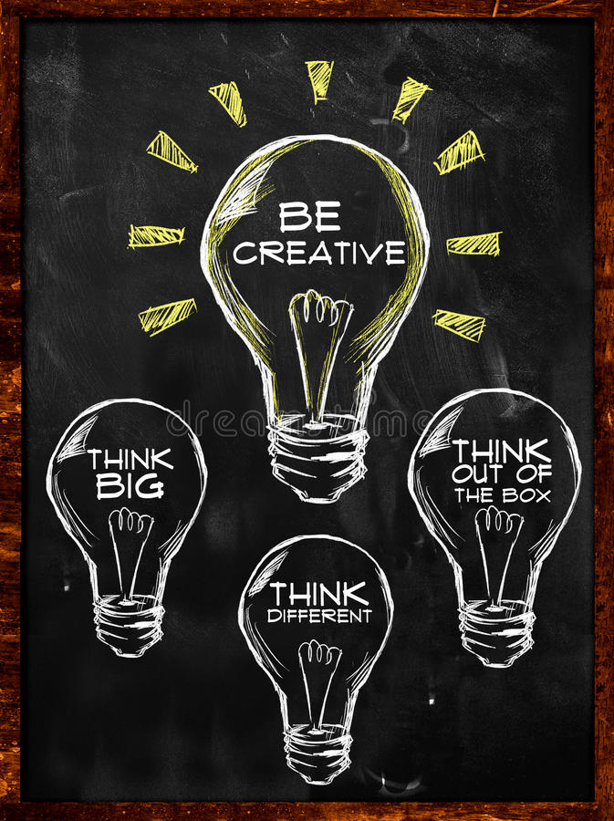 Soyez créatif, pensez grand et différent illustration de vecteur