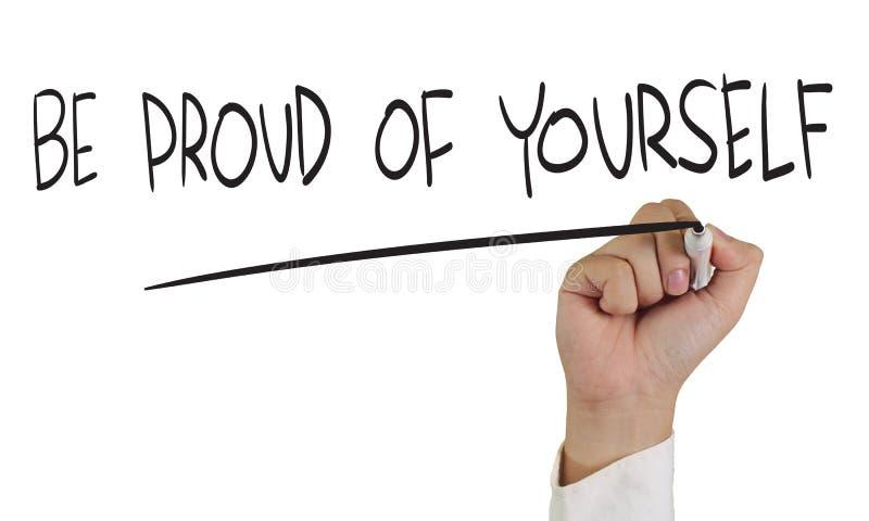 Soyez fier de vous-même photo libre de droits