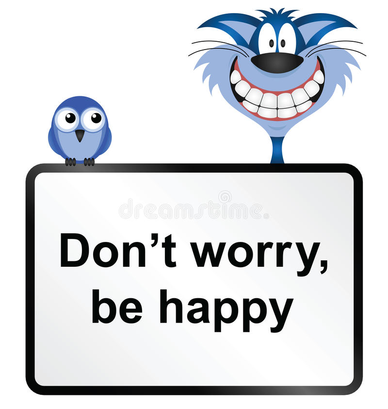 Soyez heureux illustration libre de droits
