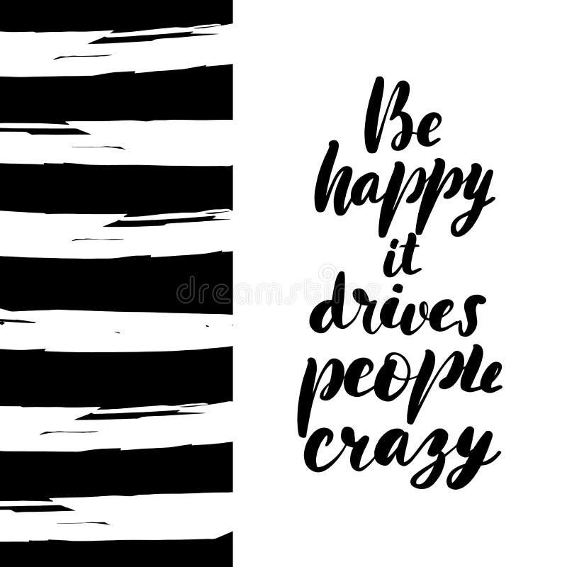 Soyez heureux qu'il conduise des personnes illustration libre de droits