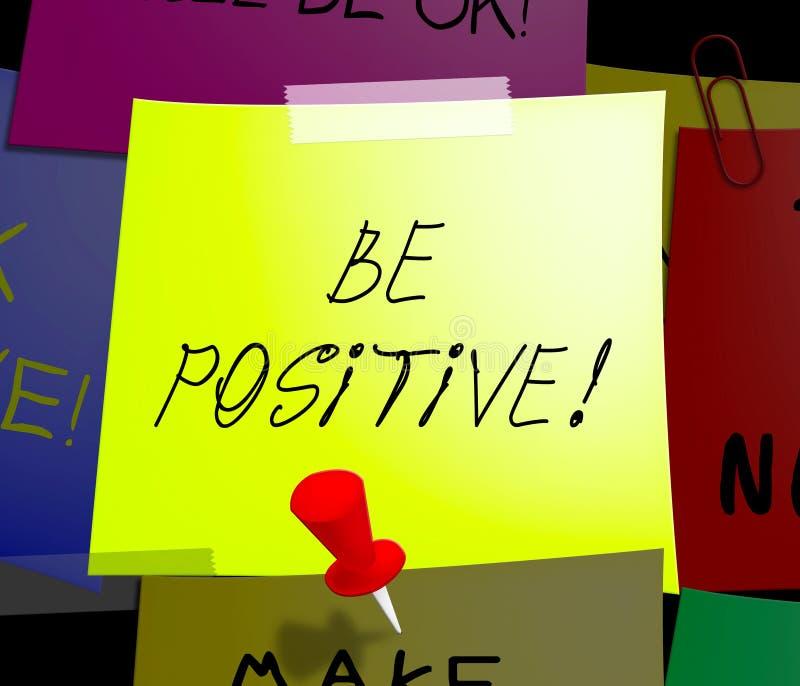 Soyez illustration positive de la mentalité 3d d'optimiste d'affichages illustration de vecteur