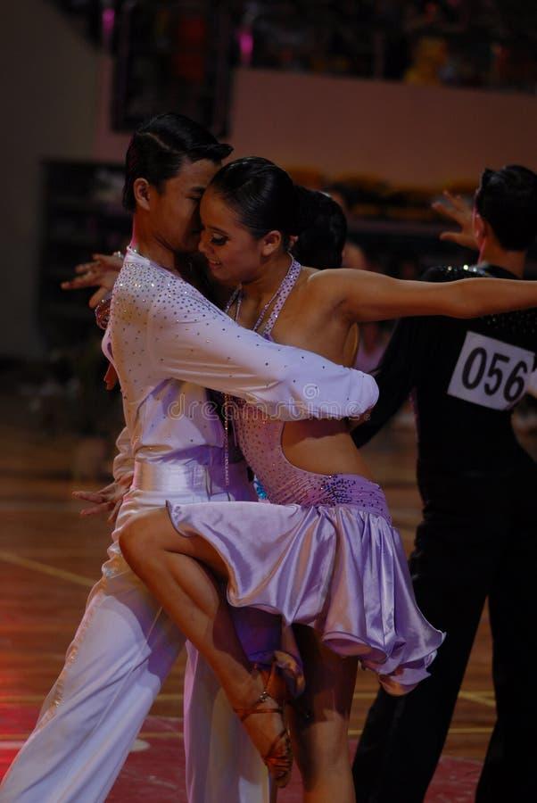 Soyez juste ressortissant de danse de norme internationale de la parfait-Chine Nan-Tchang ouvert photo libre de droits