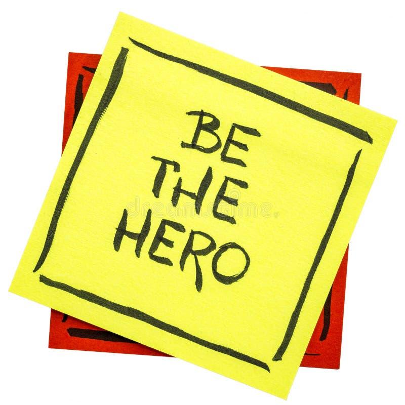 Soyez la note de rappel de héros images stock