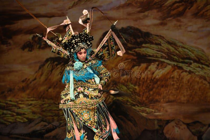 """Soyez les généraux préoccupés de femmes d'avec-Yang Qiniang- Pékin Opera"""" du  de € de Yang Familyâ photographie stock"""