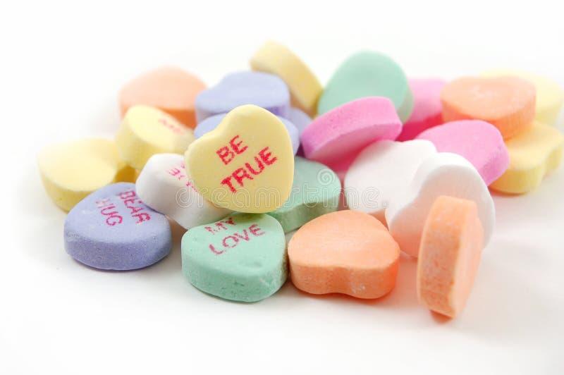 Soyez les véritables coeurs de Valentine photographie stock libre de droits