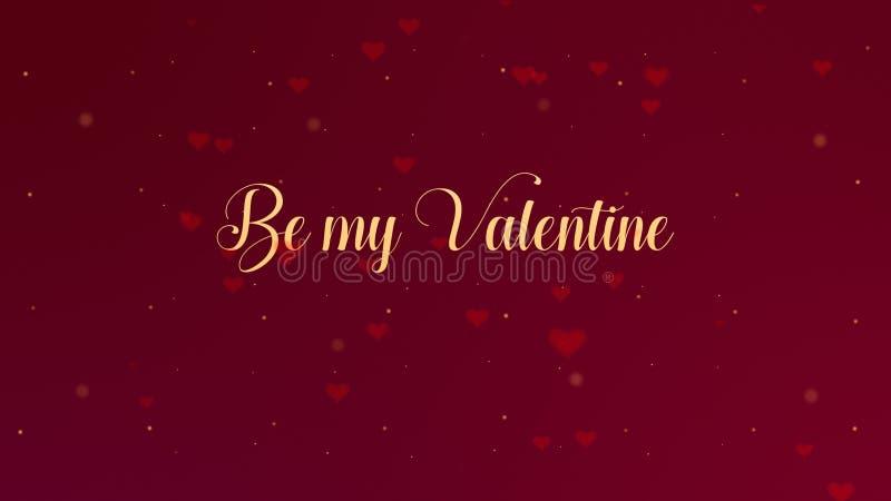 Soyez ma confession de Valentine Love Le lettrage de Saint-Valentin est isol? sur le fond rouge, qui est orn? avec peu photo stock
