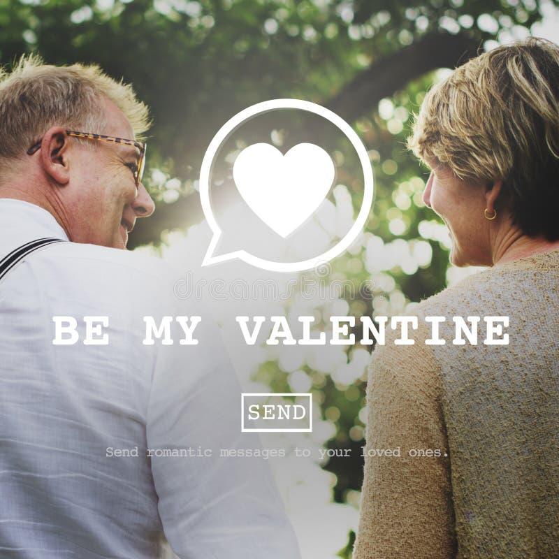 Soyez mon concept de Valentine Romance Heart Love Passion photos libres de droits