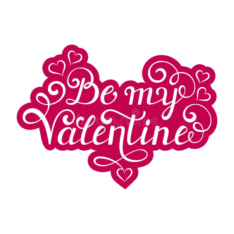 Soyez mon inscription de Valentine illustration stock