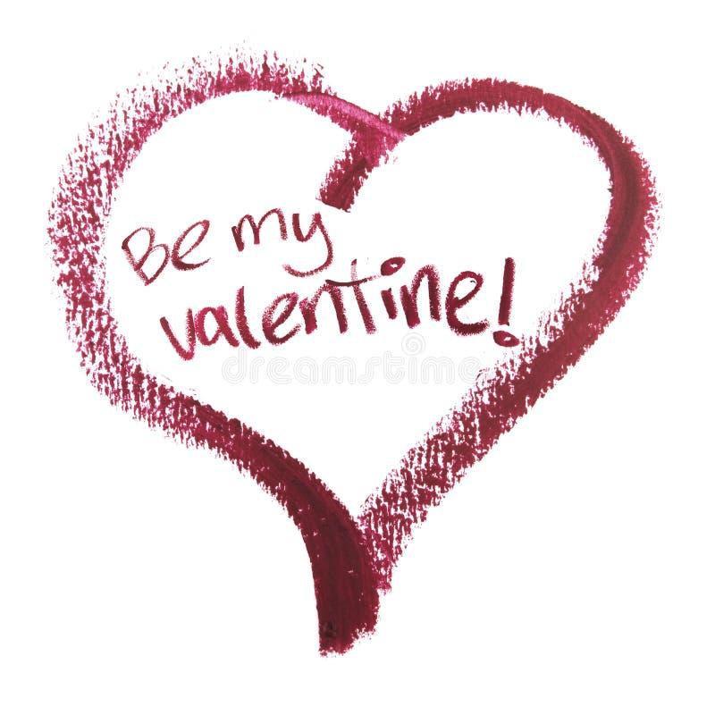 Soyez mon Valentine dans la forme de coeur photo libre de droits