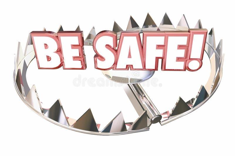 Soyez précaution sûre préparent empêchent le risque de danger illustration de vecteur