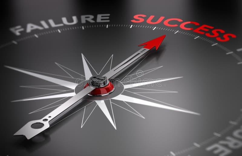 Soyez réussi - succès contre l'échec illustration libre de droits