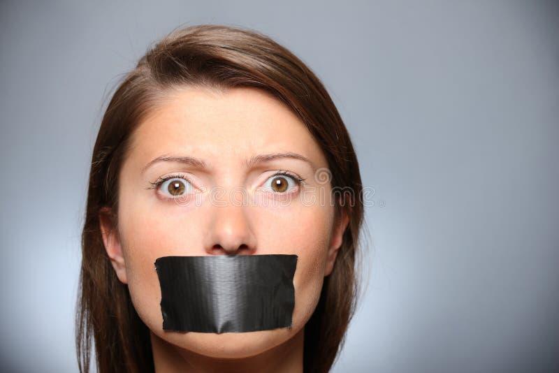 Soyez tranquille ! photographie stock libre de droits