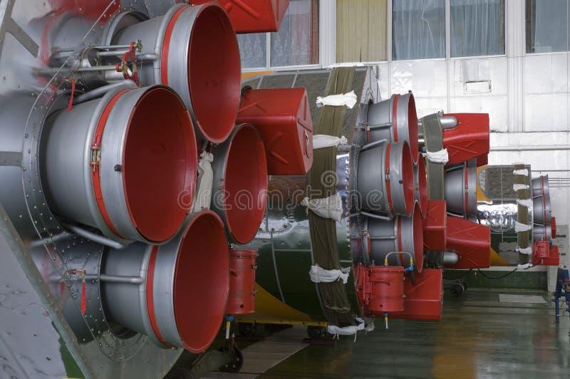 Soyuz太空火箭集合大厦 免版税库存图片