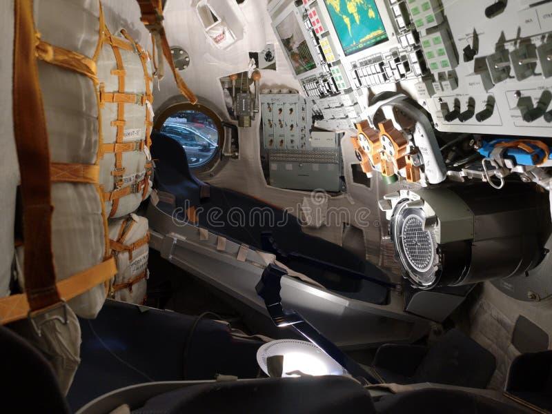 Soyuz lanceringsruimtevaartuig stock afbeeldingen