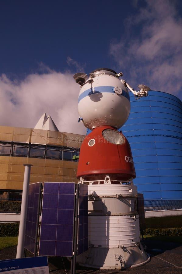Soyuzruimteschip stock afbeelding
