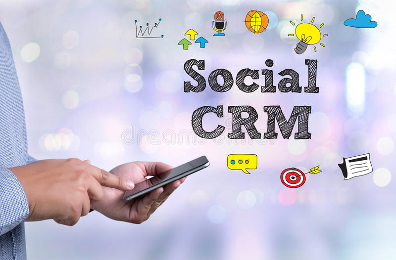 Sozial-CRM lizenzfreies stockfoto