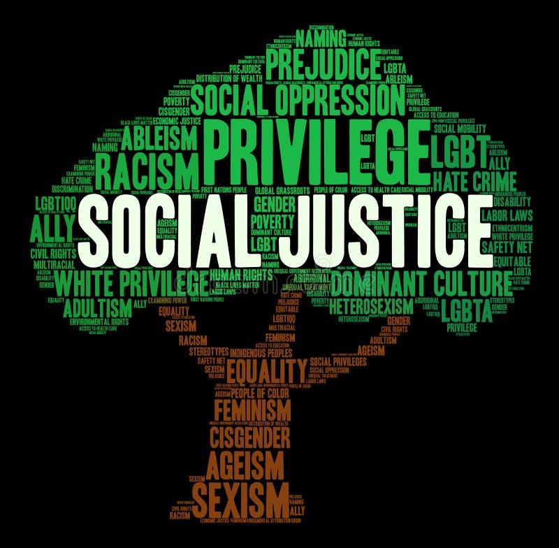 Soziale Gerechtigkeit Word Cloud stock abbildung