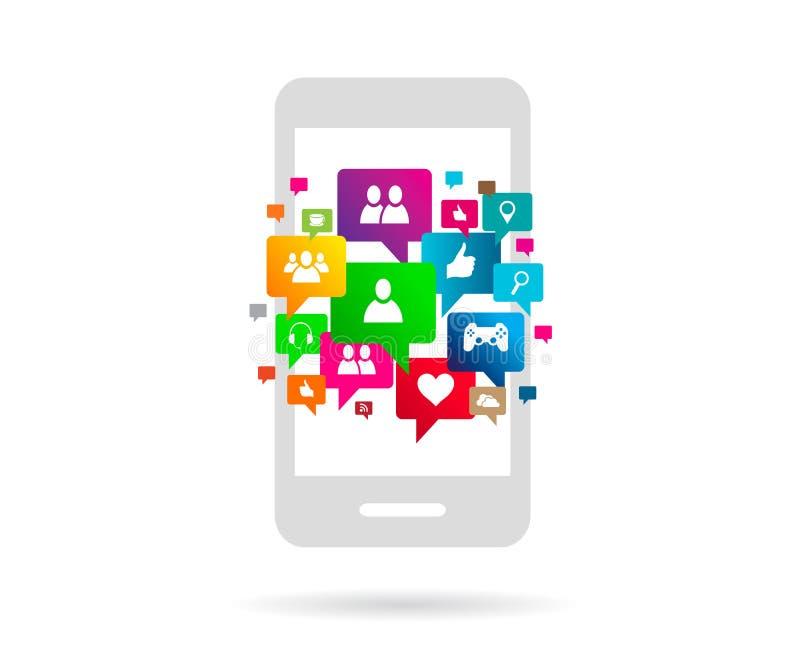 Soziales Netz lizenzfreie abbildung