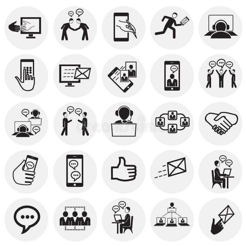 Soziales Netz und Verbindungen auf Kreishintergrund lizenzfreie abbildung