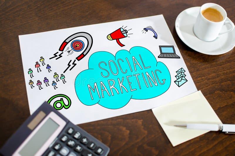 Sozialmarketing-Konzept auf einem Papier lizenzfreies stockfoto