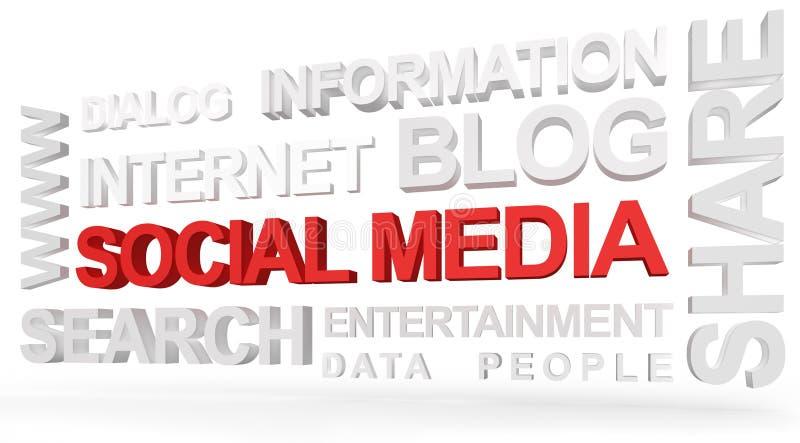 Download Sozialmedia in 3D stockbild. Bild von versammlung, folgen - 26351873