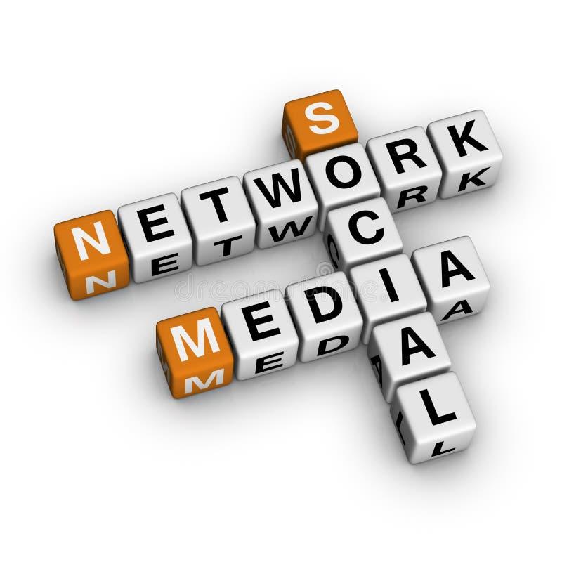 Sozialmedia-Netz vektor abbildung