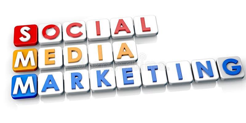 Sozialmedia Vermarkten stock abbildung