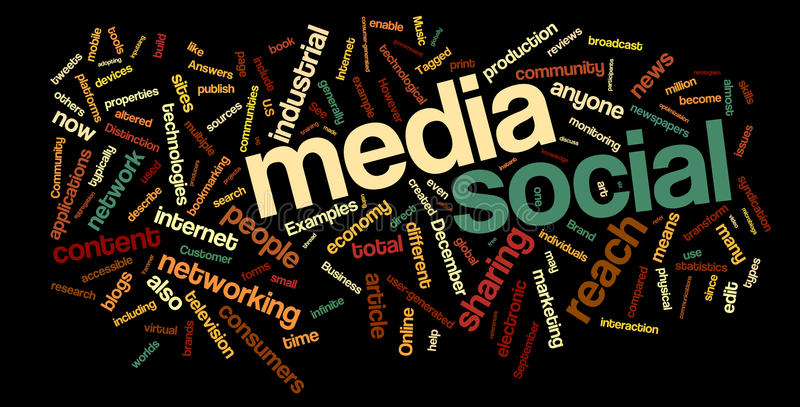 Sozialmedia-Wort-Wolke vektor abbildung