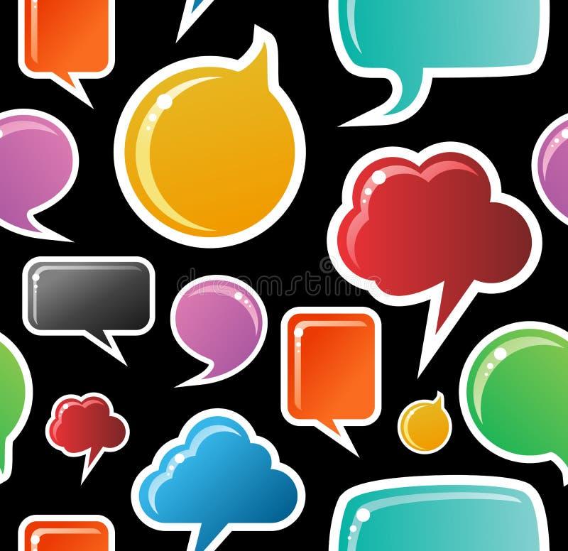 Sozialmedialuftblasen-Musterhintergrund lizenzfreie abbildung
