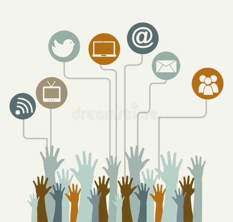 Sozialmedien lizenzfreie abbildung
