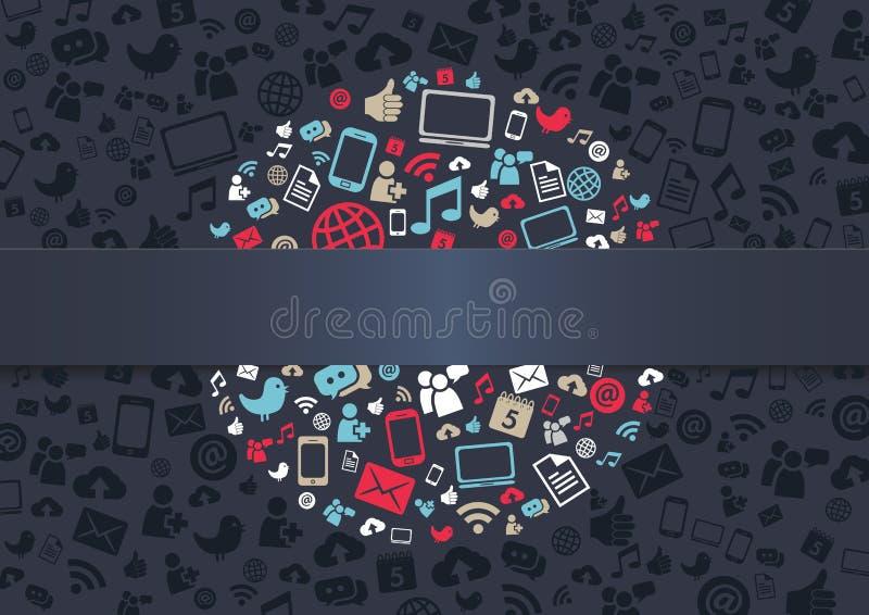 Sozialmedien-Hintergrund lizenzfreie abbildung